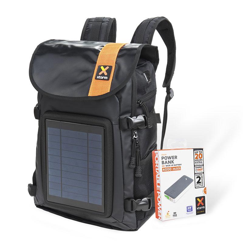 Zaino Pannello Solare X : Solar helios backpack zaino con pannello solare a