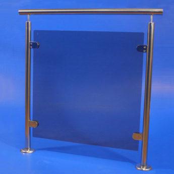 Parapetto acciaio inox Aisi 316 lucido mod. Eleon Glass